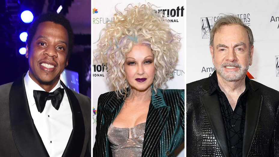 Jay Z, Cyndi Lauper and Neil Diamond-Split-Getty-H 2019