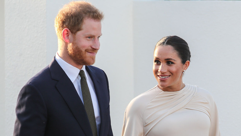 Meghan, Duchess of Sussex and Prince Harry, Duke of Sussex attends a reception hosted by the British Ambassador to Morocco - Getty - H 2019
