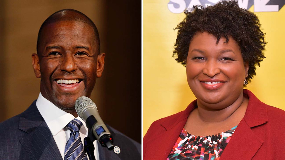Andrew Gillum and Stacey Abrams _Split - Getty - H 2019