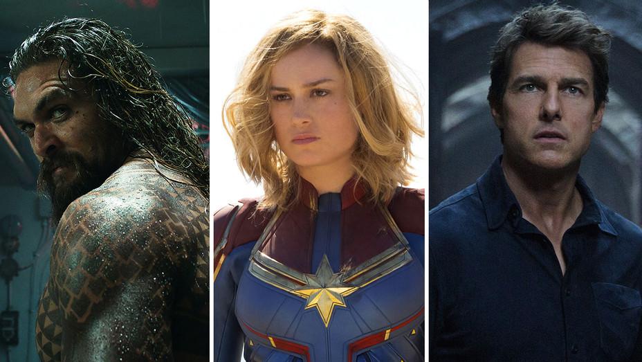 Aquaman, Captain Marvel and Tom Cruise in The Mummy - Split-Photofest-H 2019