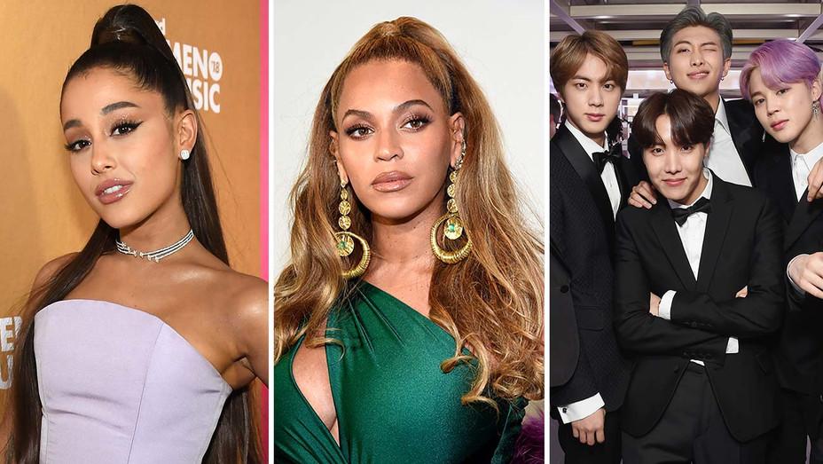 Ariana Grande-Beyonces-BTS-Split-Getty-H 2019