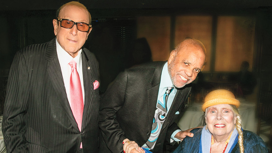 Clive Davis with guests Berry Gordy and Joni Mitchell - Publicity - H 2019