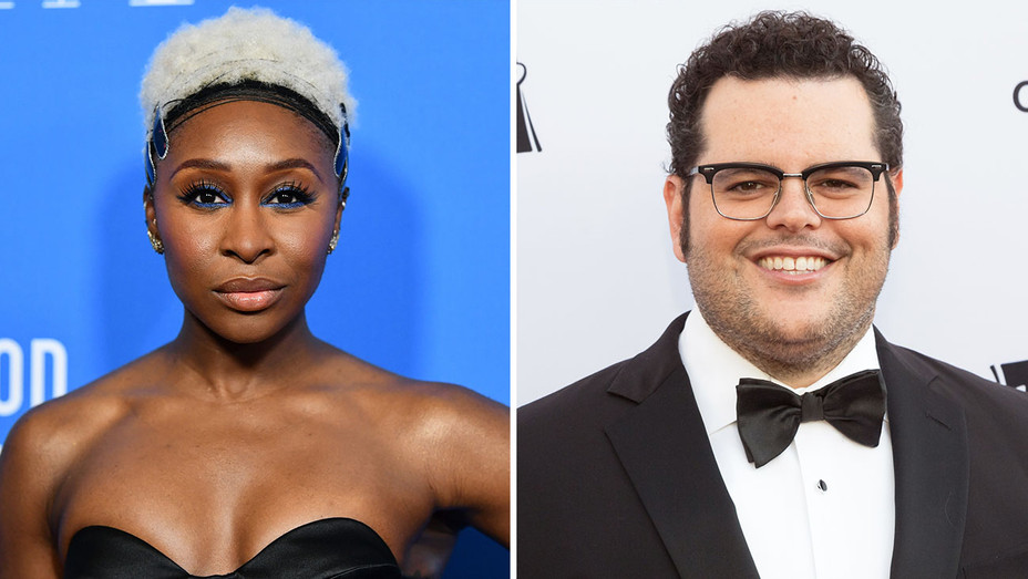 Cynthia Erivo_Josh Gad_Split - Getty - H 2019