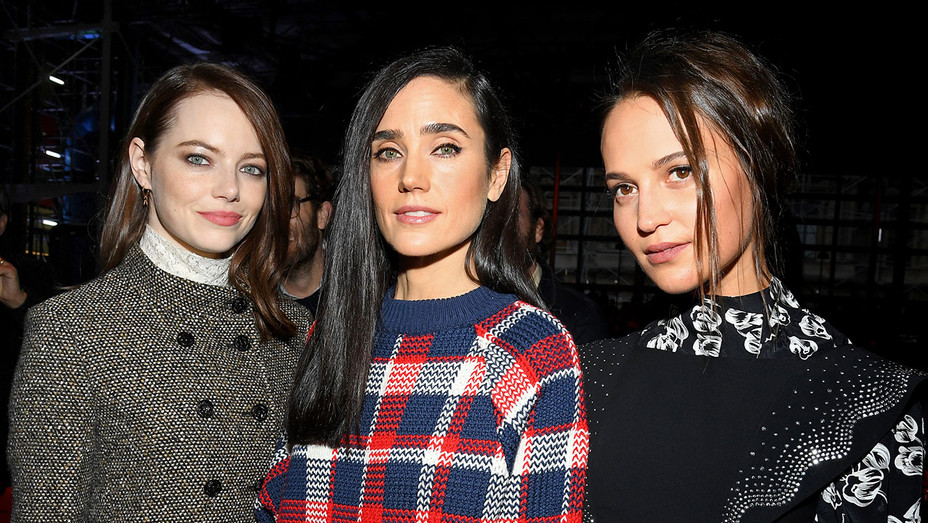 Emma Stone, Jennifer Connelly and Alicia Vikander attend the Louis Vuitton show-Getty-H 2019