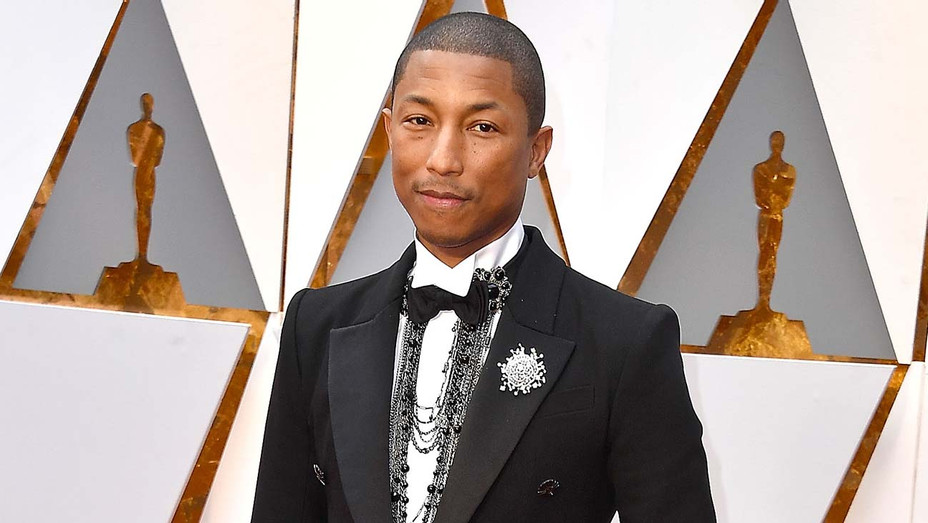 Pharrell Williams arrives at the 89th Annual Academy Awards - Getty-H 2019