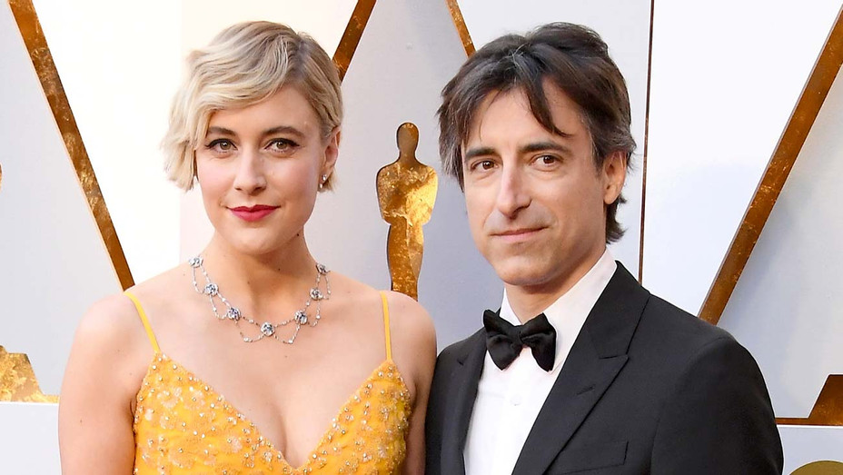 Greta Gerwig and Noah Baumbach attend the 90th Annual Academy Awards -Getty-H 2019