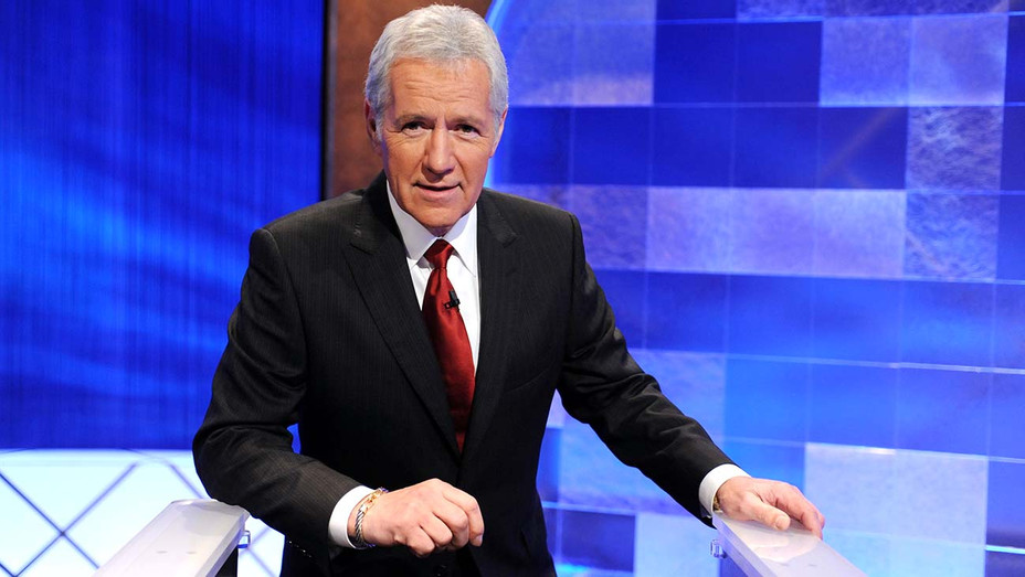 "Alex Trebek poses on the set of the ""Jeopardy!"" -Getty-H 2019"