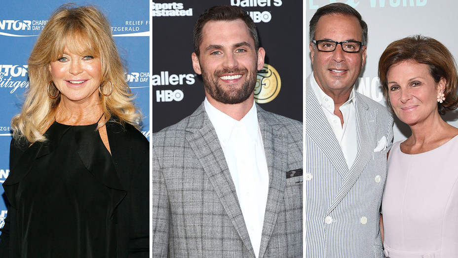 Goldie Hawn Kevin Love and Laura and Harry Slatkin - Getty - H Split 2019