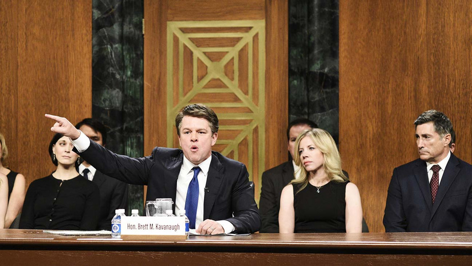 Matt Damon as Judge Brett Kavanaugh -SNL-Publicity Still-H 2019