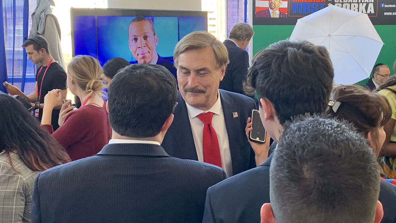MyPillow CEO Mike Lindell Sues Over Story of Jane Krakowski Romance