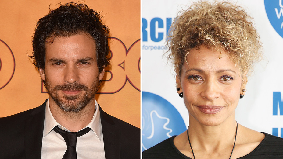 Santiago Cabrera Michelle Hurd Split - Getty - H 2019
