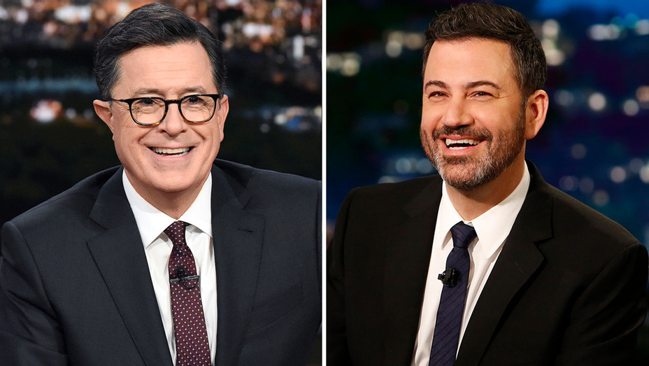 Stephen Colbert on The Late Show CBS and Jimmy Kimmel on Jimmy Kimmel Live ABC - publicity-H 2019