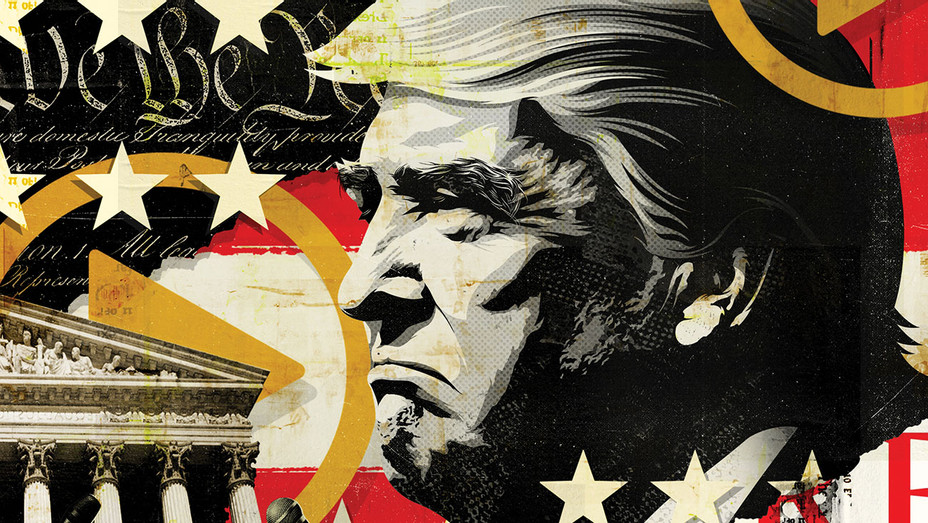 THR--Trump's War on Fake News-Hollywood-DWT 2 2-Illustration by Taylor Callery-H 2019