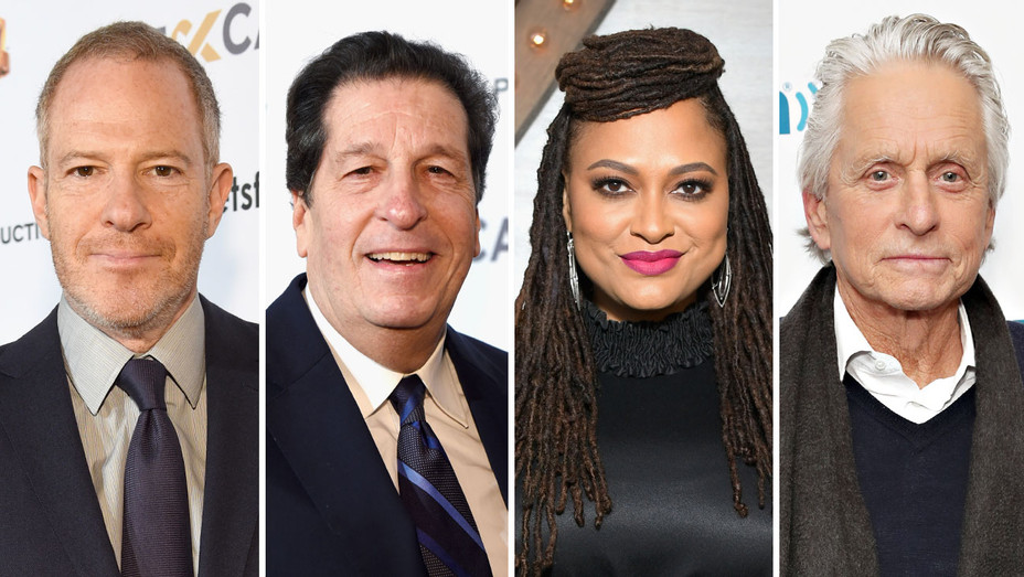 Toby Emmerich- Peter Roth - Ava DuVernay-Michael Douglas-Split-Getty-H 2019