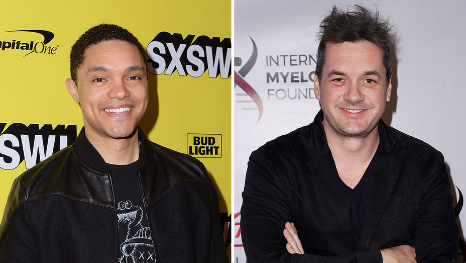 Trevor Noah and Jim Jefferies_Split - Getty - H 2019
