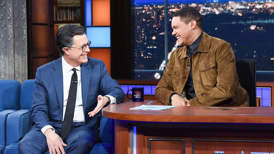 The Late Show with Stephen Colbert and guest  Trevor Noah -April 15, 2019- Getty-H 2019