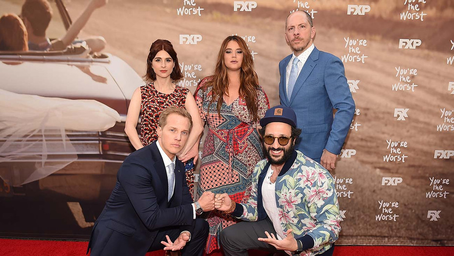 Cast and creators of 'You're the Worst' at the FYC red carpet.