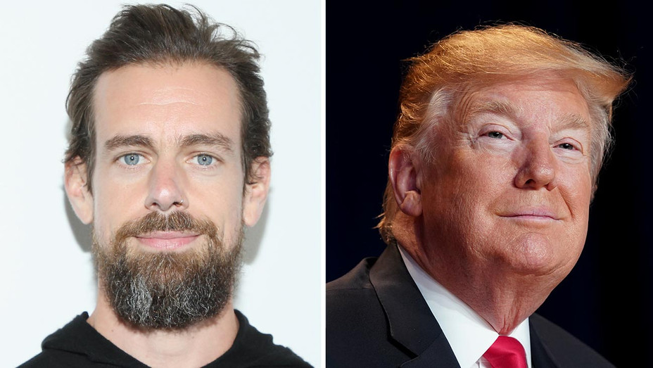 Jack Dorsey and Donald Trump-Getty-Split-H 2019