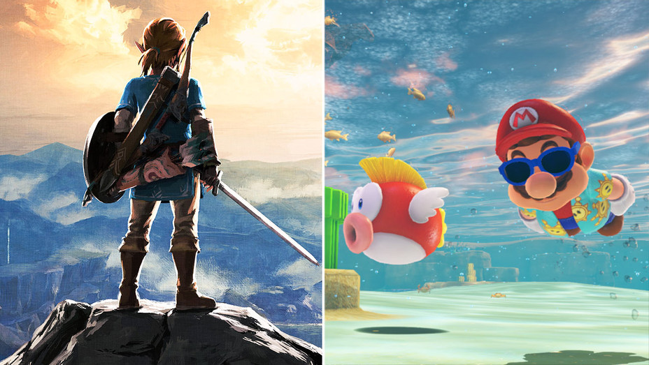 Zelda- Breath of the Wild-Super Mario Odyssey -Publicity-Split-H 2019