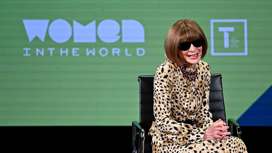 Anna Wintour speaks during the 10th Anniversary Women In The World Summit-Getty-H 2019