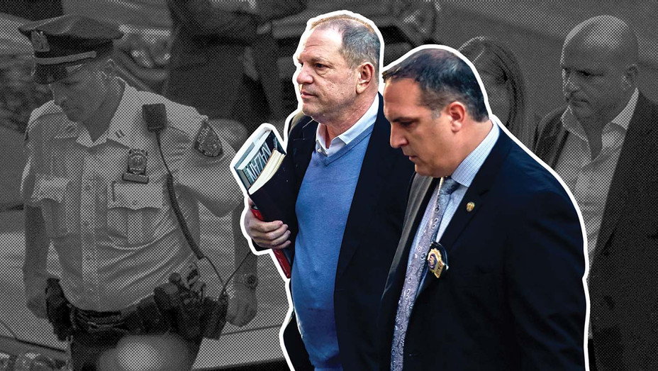AP Photo ONE TIME USE - Harvey Weinstein arrives at the first precinct  - Graphic- Splash -H 2019