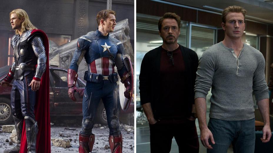 Avengers 2012-Avengers Engdame-Publicity Stills-Split-H 2019