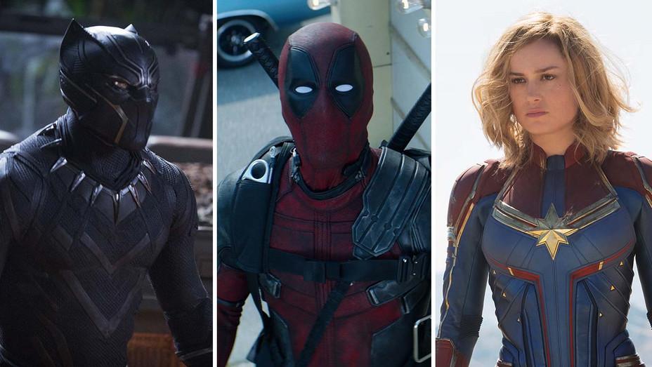 Black Panther_Deadpool_Captain Marvel Split - Publicity - H 2019