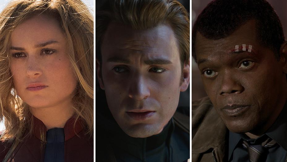 Brie Larson - Chris Evans - Samuel L. Jackson - Avengers Split H 2019