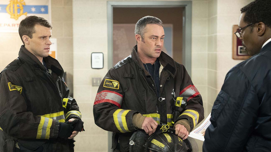 "CHICAGO FIRE - Until The Weather Breaks"" Episode 719 - Jesse Spencer -Taylor Kinney-Publicity-H 2019"