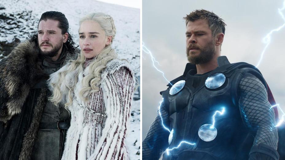 Game of Thrones-Avengers Engdame-Photofest-Publicity Still-Split-H 2019