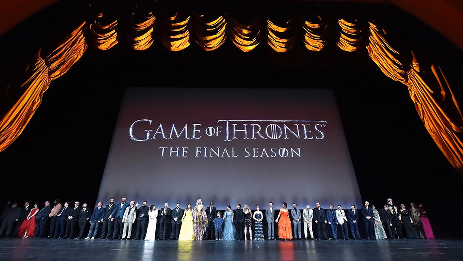 'Game of Thrones' cast members gather onstage during the 'Game Of Thrones' Season 8 NY Premiere-Getty-H 2019