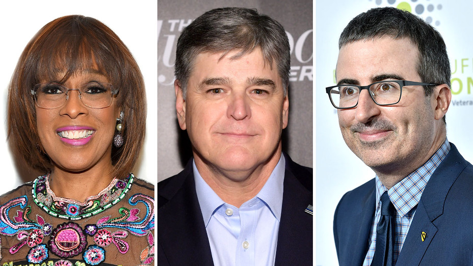 Gayle King, Sean Hannity, John Oliver-Getty-Split-H 2019