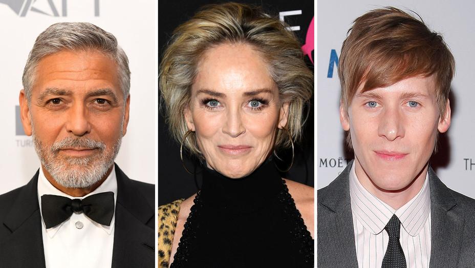 George Clooney, Sharon Stone, Dustin Lance Black-Split-Getty-H 2019