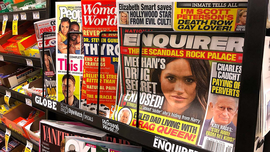 Copies of the National Enquirer are displayed at a grocery store on August 24, 2018 - Getty-H 2019
