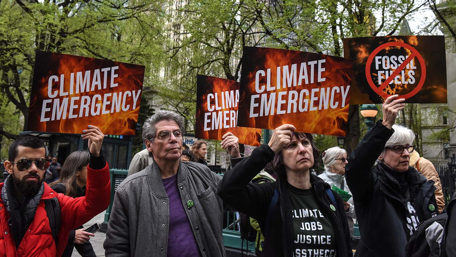 Protest group called Extinction Rebellion - climate emergency  April 17, 2019 - Getty-H 2019