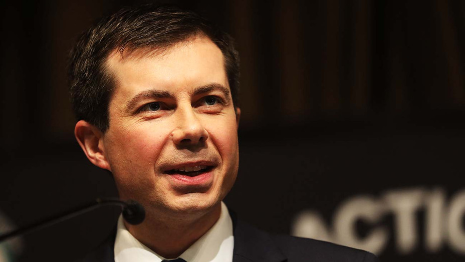 Pete Buttigieg speaks at the National Action Network's annual convention - April 4, 2019- Getty-H 2019