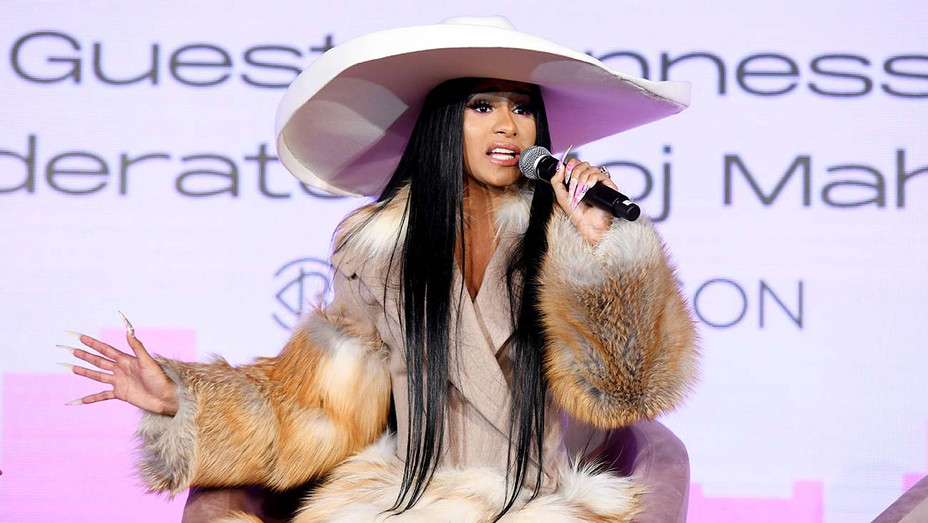 Cardi B speaks onstage during Beautycon Festival New York 2019 - Getty -H 2019