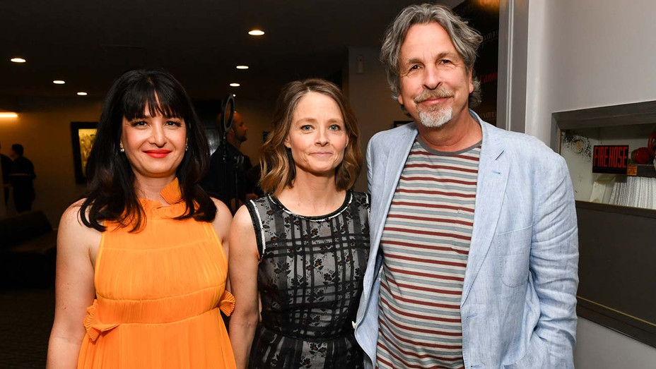 Pamela B. Green, Jodie Foster, and Peter Farrelly - Premiere of Be Natural The Untold Story of Alice Guy-Blache- Getty-H 2019