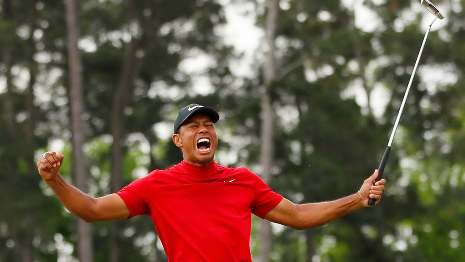Tiger Woods of the United States celebrates - 18th green to win during the final round - Getty-H 2019