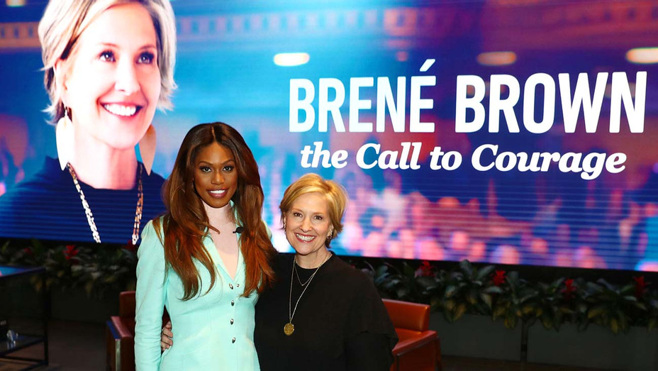 Laverne Cox and Brené Brown attend Brené Brown The Call To Courage - Getty-H 2019