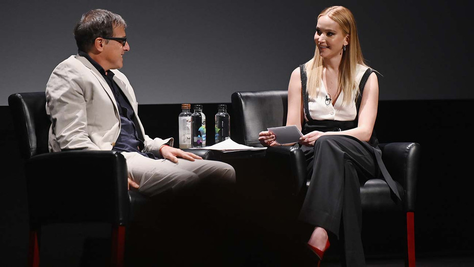 David O. Russell and Jennifer Lawrence speaks at the Tribeca Talks - Getty-H 2019