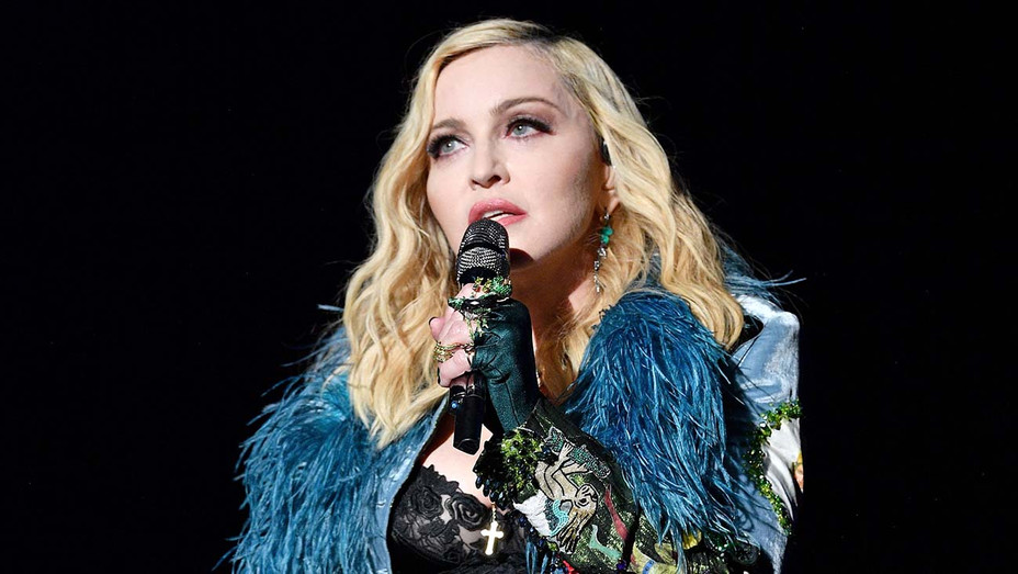 Madonna performs on stage at the Leonardo DiCaprio Foundation 4th Annual Saint-Tropez Gala  -Getty H 2019