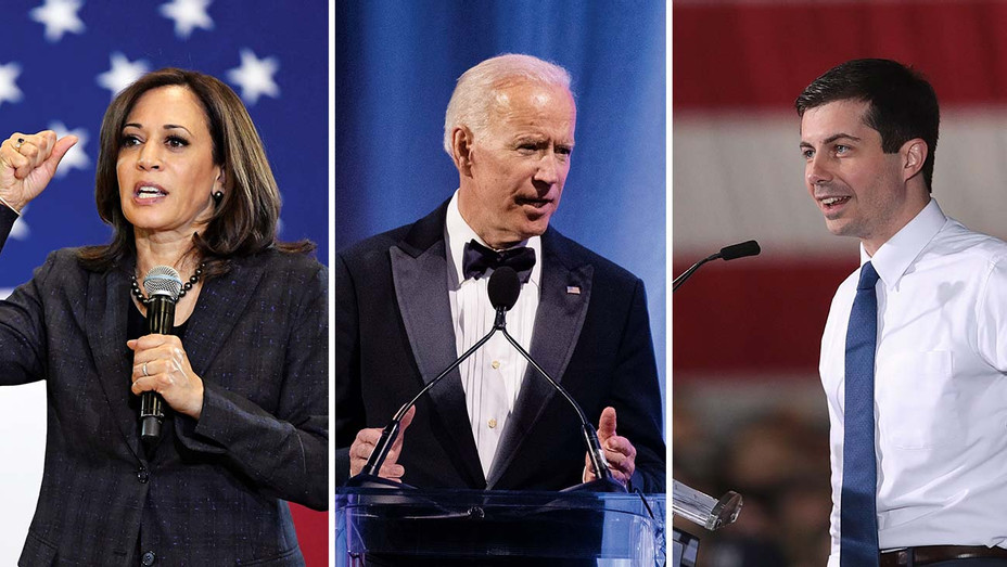 Harris_Biden_Buttigieg_Split - Getty - H 2019