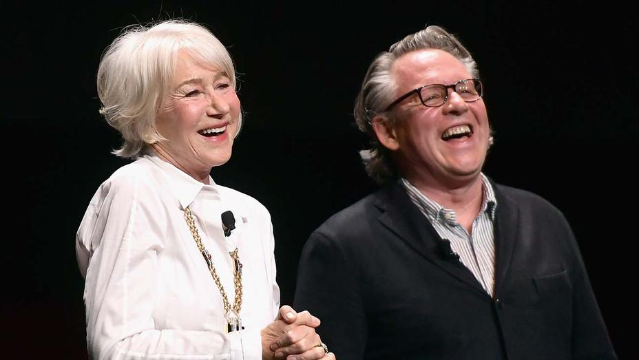 Helen Mirren and Bill Condon_Onstage Cinemacon - Getty - H 2019
