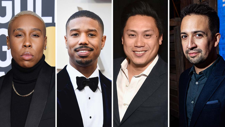 Lena Waithe, Michael B. Jordan, Jon M. Chu and Lin-Manuel Miranda_Split - Getty - H 2019