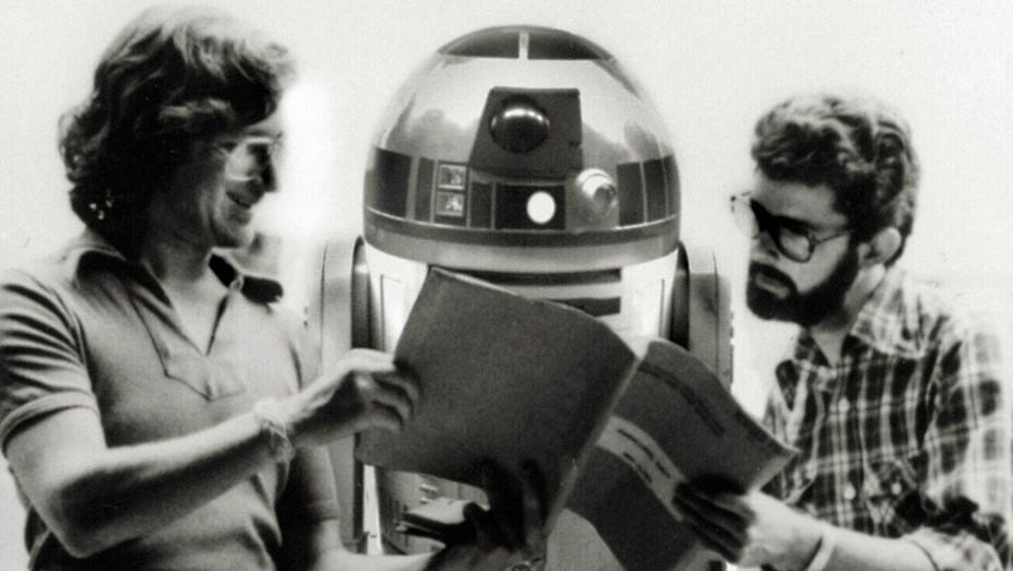 Lucas Spielberg on Star Wars Set - H - 1977