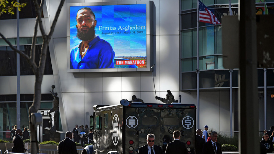 Nipsey Hussle's Celebration Of Life And Funeral Procession In Los Angeles-Getty-H 2019