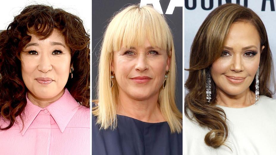 Sandra Oh, Patricia Arquette, Leah Remini-Getty-Split-H 2019