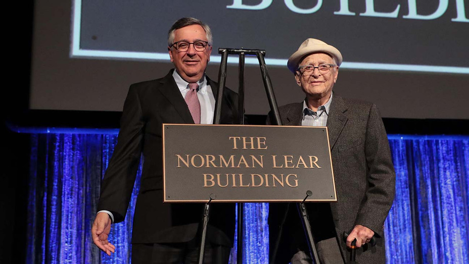 Sony Pictures Chairman and CEO Tony Vinciquerra and Norman Lear - Publicity - H 2019