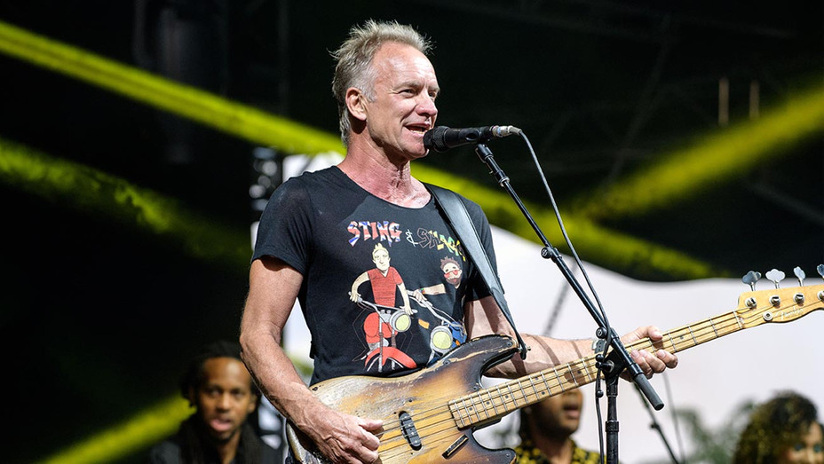 Sting performs on stage-Getty-H 2019